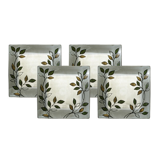 Set of 4 Square Dinner Plates