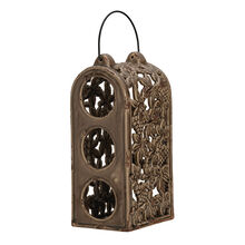 Rustic Brown 3 Bottle Ceramic Wine Holder
