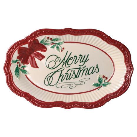 Holiday Merry Christmas Plate