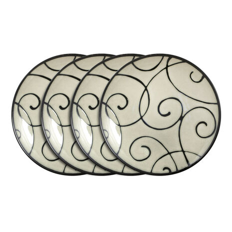 Set of 4 Scroll Salad Plates
