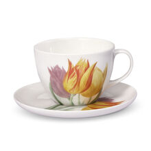 Tulips Tea Cup And Saucer Set