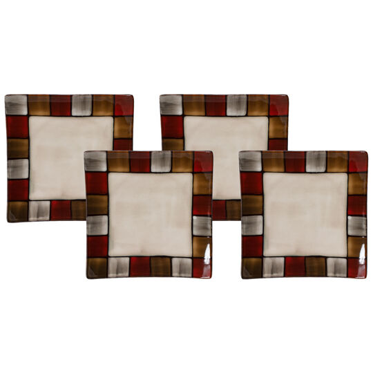 Set of 4 Square Plates