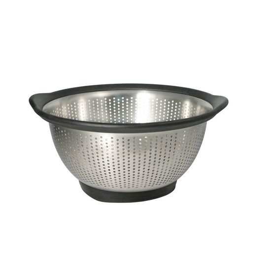 3 Quart Black Stainless Steel Colander