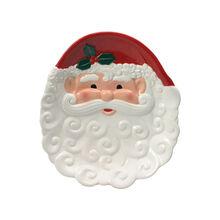 Santa Figural Cookie Plate