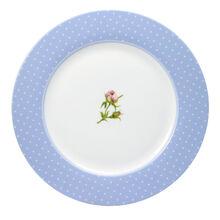 Blue Rim Dinner Plate