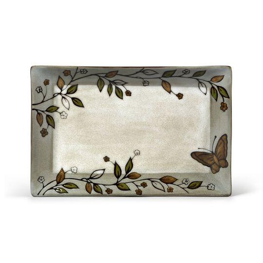 Rectangular Platter with Butterfly