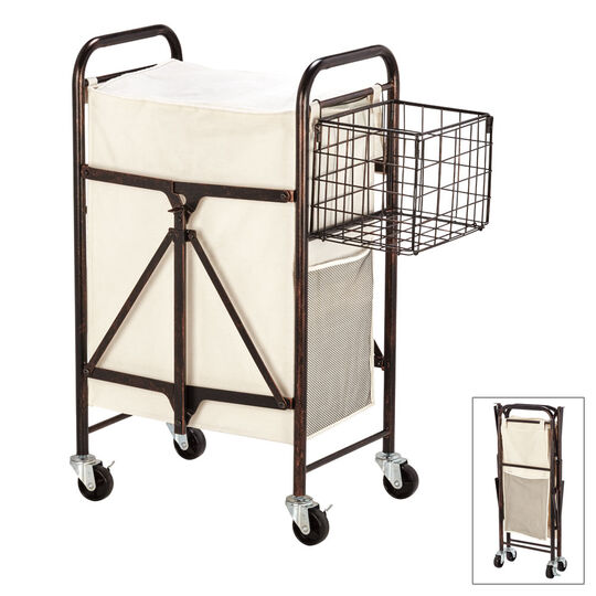 Collapsible Rolling Laundry Cart