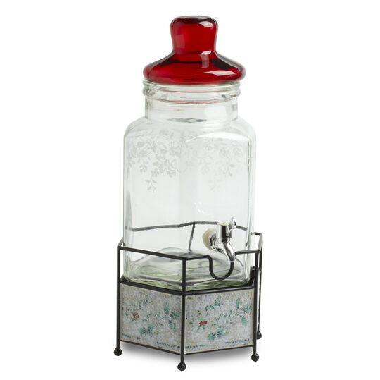 Glass Beverage Jar