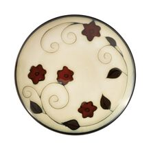Round Salad Plate with Leaves