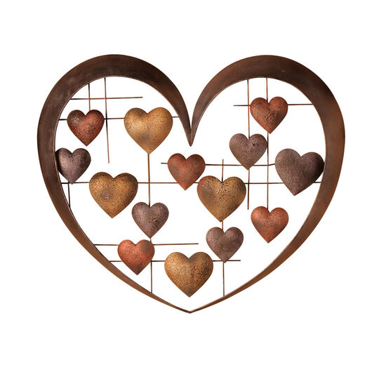 Hearts Collage Metal Wall Decor