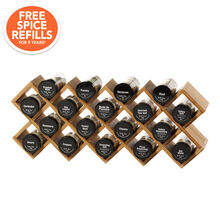 18 Jar Criss-Cross Bamboo Spice Rack