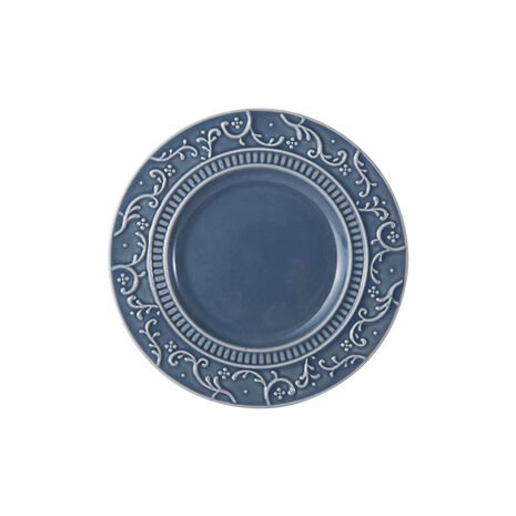 Scroll Blue Appetizer Plate
