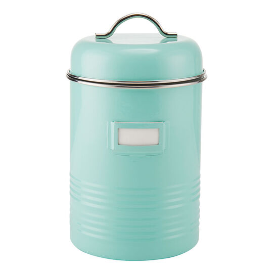 Large Blue Canister with Card Holder