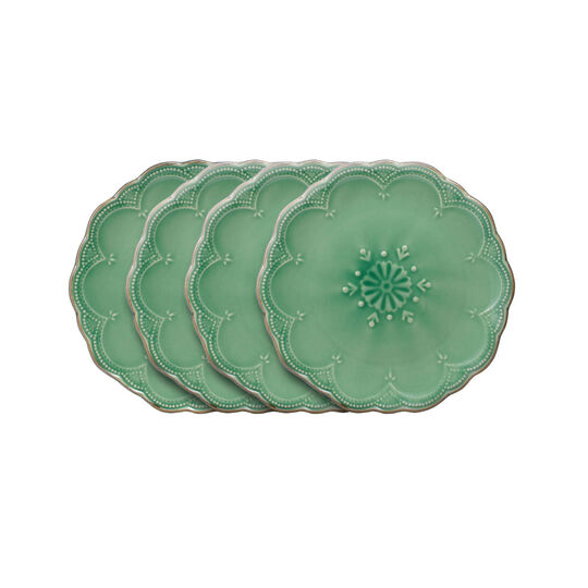 Set of 4 Green Salad Plates