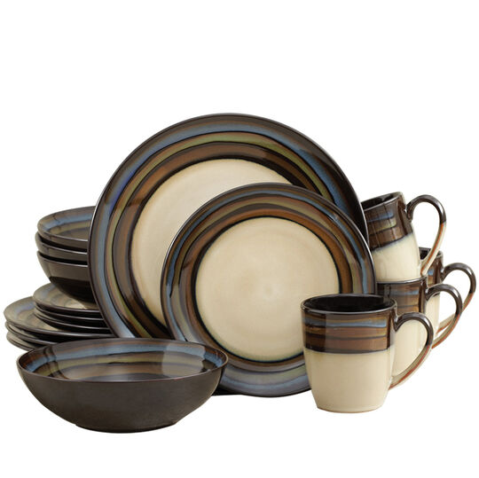 Blue 16 Piece Dinnerware Set
