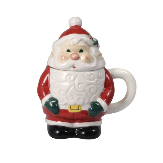 Jolly Santa Covered Mug