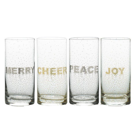 Confetti Set of 4 Highball Glasses