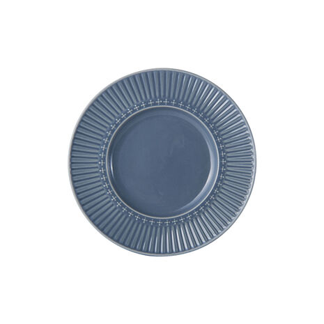 Fluted Blue Appetizer Plate