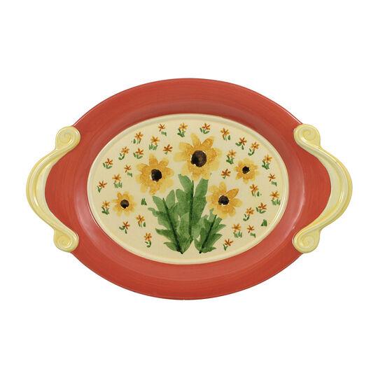 Oval Le Petite Sunflower Plate