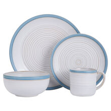 Teal 16 Piece Dinnerware Set