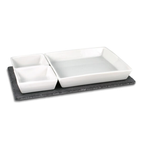 Serving Set w/Slate Tray
