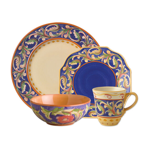 48 Piece Blue Dinnerware Set