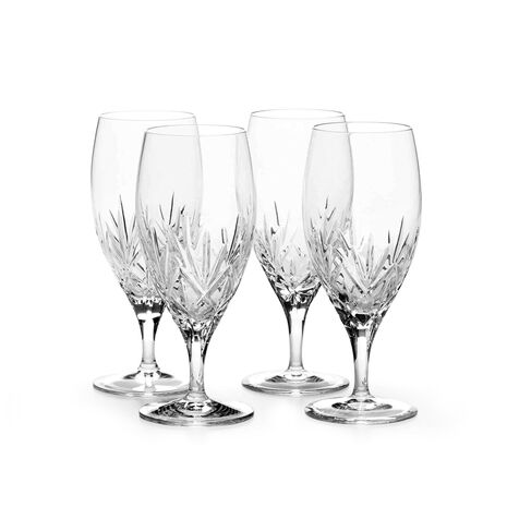 Set of 4 Crystal Iced Beverage Glasses