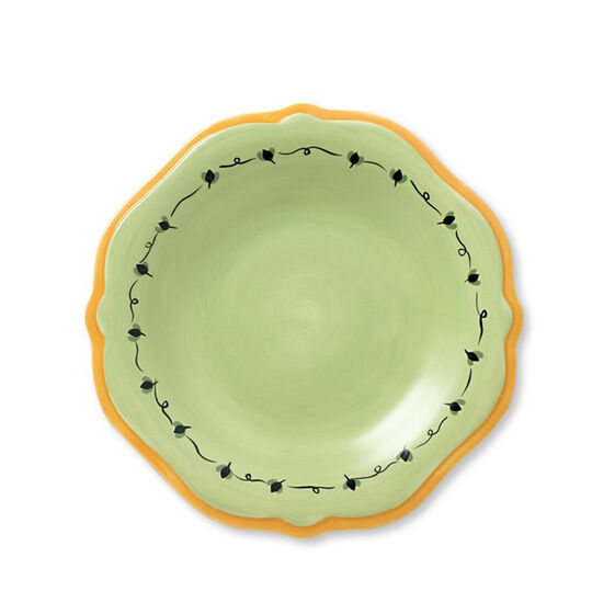 Salad Plate with Yellow Band