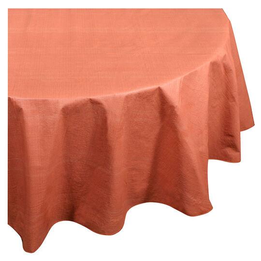 70 Inch Round Burnt Orange Vinyl Tablecloth