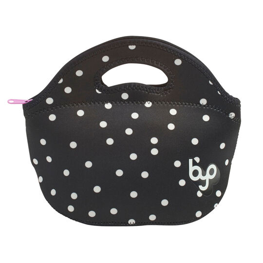 Dapple Dot Black And White Rambler Lunch Bag
