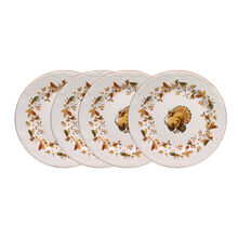 Autumn Berry Set of 4 Turkey Salad Plates