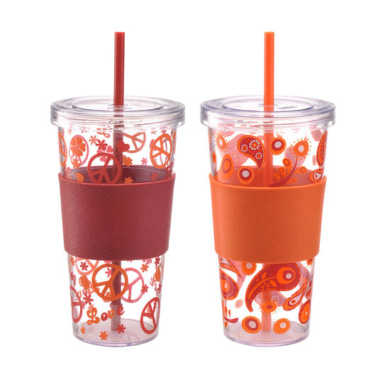 Set of 2 Single Wall Iced Beverage Cups