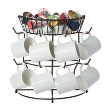 Marketplace Mug Tree With Basket