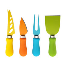 4 Piece Multi-Colored Resin Cheese Knife Set