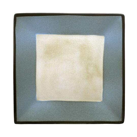 Blue Square Dinner Plate