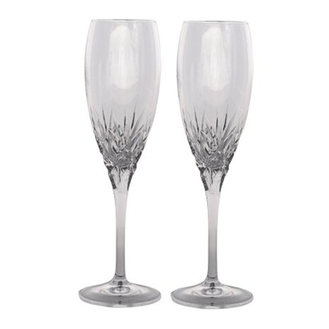 Set of 2 Crystal Champagne Flutes