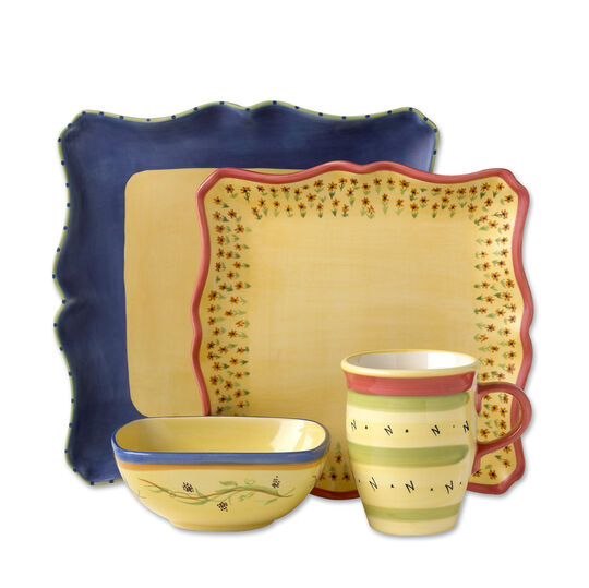 48 Piece Square Dinnerware Set