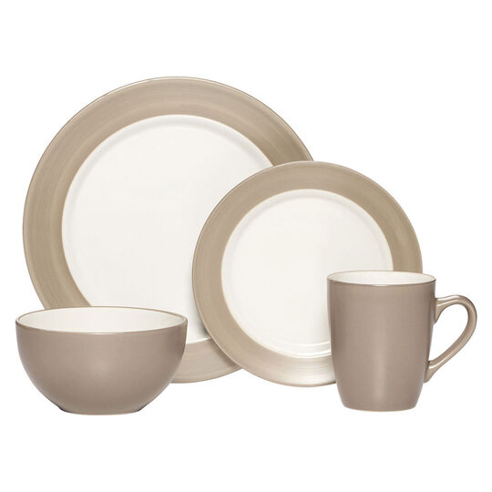 Taupe 16 Piece Dinnerware Set
