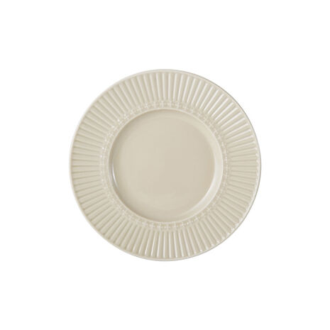 Fluted Beige Appetizer Plate