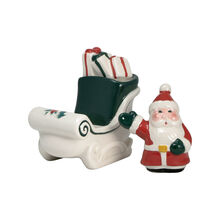 Jolly Santa Sleigh Salt and Pepper Set
