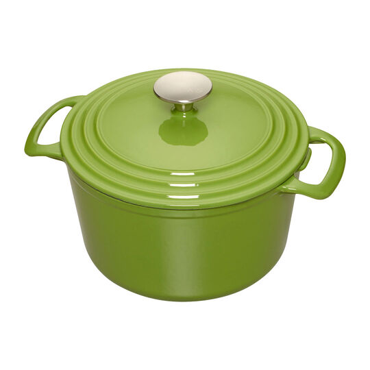 5.5 Quart Green Enameled Cast Iron Dutch Oven