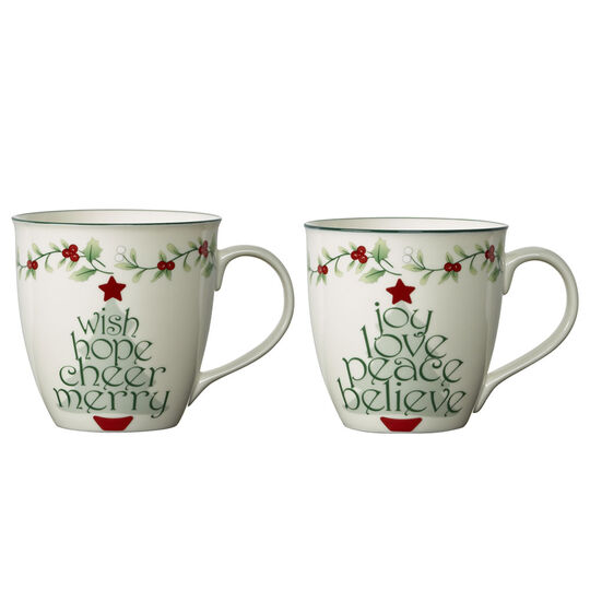 Set of 2 Sentiments Tree Mugs