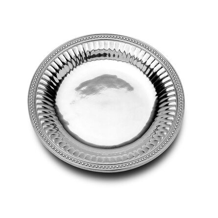 Flutes And Pearls Medium Round Tray