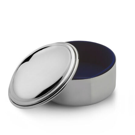 Round Pewter Jewelry Box