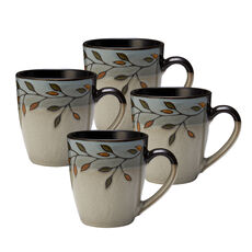 Pastoral Leaves Set of 4 Mugs