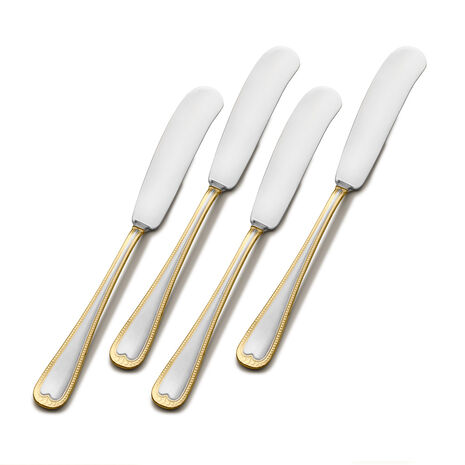New Castle Gold Accent Set of 4 Spreaders