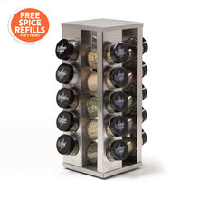 20 Jar Brushed Heritage Spice Rack