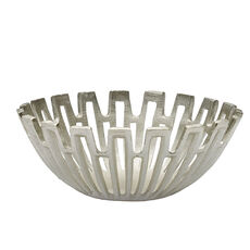 Silver Sun Ray Decorative Bowl