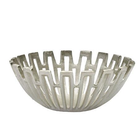 Silver Sun Ray Decorative Bowl