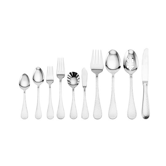 Continental Hammered 65 Piece Flatware Set